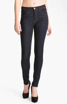 J Brand Maria' High Rise Jeans (Starless) available at -- best looking, best fitting, most comfy jeans ever! High Rise Jeans, Denim Fashion, Women's Fashion, J Brand, Stretch Jeans, Jeans Style, Celebrity Style, Autumn Fashion, Black Jeans