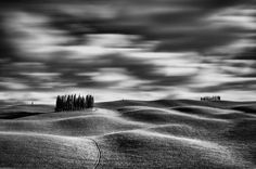 Val D'Orcia, Toscany by Matteo Chinellato Fine Art Photography, White Photography, Long Exposure, Tuscany, The Selection, Country Roads, Community, Black And White, Landscape