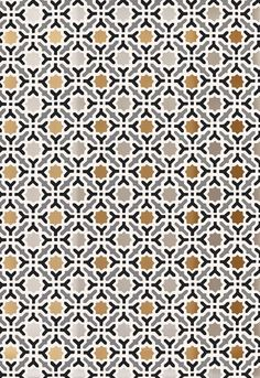 Schumacher Serallo Mosaic Wallcovering Design Inspiration This colorful, hand printed wallcovering is composed of an allover geometric design of stars. The small scale makes it a versatile option for adding a touch of exoticism to a modern interior when used alone. It can also be used with the coordinating colors of Nasrid Palace Mosaic, Darro Mosaic Border, and Cadiz Mosaic Border to create the full effect of an elaborately tiled wall.