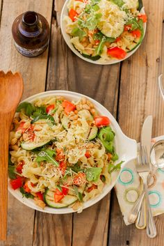 Grilled Zucchini and White Bean Pasta   mycaliforniaroots.com   #weeknight #recipe #easy