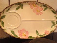 Rare Vintage Franciscan Desert Rose Snack Dish by NonasPast