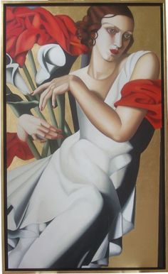 "Tamara de Lempicka was a student of André Lhote, a ""soft Deco cubist"" whose… Art Deco Artists, Art Deco Paintings, Portrait Paintings, Rolf Armstrong, Isadora Duncan, Tamara Lempicka, Gustav Klimt, Estilo Art Deco, Different Kinds Of Art"