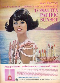 Max Factor makeup in pink and coral... 1964
