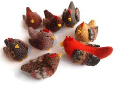 Hens and a Rooster, Waldorf toy, toy chickens, eco friendly toy, waldorf chickens by EvesLittleEarthlings on Etsy https://www.etsy.com/listing/124604064/hens-and-a-rooster-waldorf-toy-toy