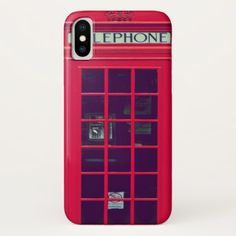 Original british phone box iPhone x case - photography gifts diy custom unique special