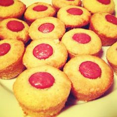 Mini Corn Dog Muffins-II,Directions:Preheat your oven for 400 degrees.  Follow the Jiffy package directions to make the corn muffin mix.  Once you've finished making the mix, cut your hot dogs into 1