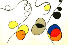 Lithograph print of a painting by Alexander Calder. Published in the Derriere Le Miroir by the French art dealer Aimé Maeght in Displayed in a Larson Juhl black frame and black liner. Alexander Calder, Arabesque, Bram Van Velde, Georges Braque, Henri Matisse, French Art, Art Plastique, Large Art, American Artists