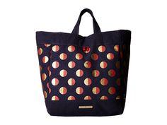 TOMMY HILFIGER Jean - Metallic Dot Canvas Tote. #tommyhilfiger #bags #hand bags #canvas #denim #tote #metallic #
