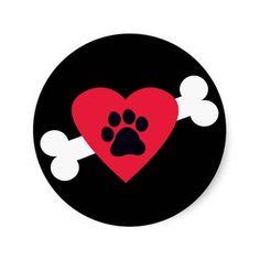 Heart, Pawprint and Bone Design Stickers/Decals => http://www.zazzle.com/heart_pawprint_and_bone_design_stickers_decals-217490295964618379?CMPN=addthis&lang=en&rf=238590879371532555&tc=pinHDOZPheartbonesticker