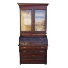 Antique Drop Front Secretary Desk With Hutch Pinterest Desks And