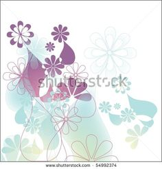 stock photo : Blue floral abstract decoration