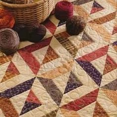 Threadbias: Pick Up Sticks by Katharine using Kansas Troubles Fabrics and a pattern from Strip-Smart Quilts. #quilting