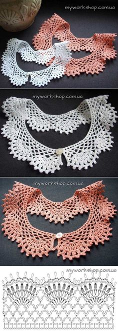 Breathtaking Crochet So You Can Comprehend Patterns Ideas. Stupefying Crochet So You Can Comprehend Patterns Ideas. Crochet Collar Pattern, Col Crochet, Crochet Lace Collar, Thread Crochet, Filet Crochet, Crochet Scarves, Crochet Motif, Crochet Shawl, Crochet Designs