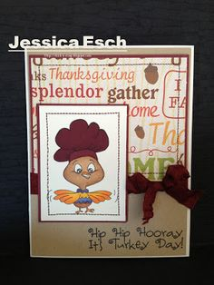 Thanksgiving card w/Peachy Keen Stamps