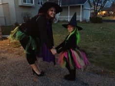 Matching mommy and daughter idea from Pinterest. Tulle witch costumes.