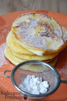Pudding fritters cheese (cheesecakes) to fast - KulinarnePrzeboje. Raw Food Recipes, Sweet Recipes, Dessert Recipes, Cooking Recipes, Crepes And Waffles, Sweet Breakfast, Slow Food, Food Inspiration, Food And Drink