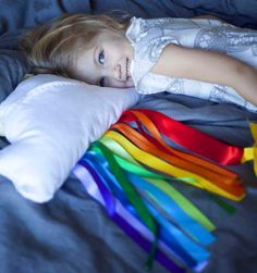 Cloud and Ribbon Rainbow Travel Pillow tute