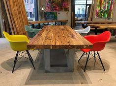 Stunning Esstisch Massivholztisch Holztisch aus Eichenholz Altholz im Industriedesign Holzwerk Hamburg Home Pinterest Living styles Interiors and