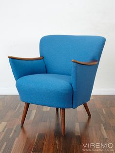 Cocktail chair, vintage armchair www.viremo.co.uk