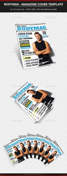 BodyMag - Multipurpose Magazine Cover Template — Photoshop PSD #application #seller • Available here → https://graphicriver.net/item/bodymag-multipurpose-magazine-cover-template/11988514?ref=pxcr
