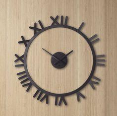 8a71717007c Relógio com números romanos para deixar o ambiente mais clássico! www. azzurium.com