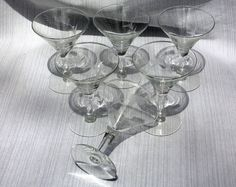 Vintage Barware Etched Crystal Wheat Pattern by BerlinGlass, $20.00