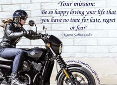 Well put! No FEAR! Ride on.