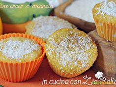 Tortine cocco e arancia – muffins  #ricette #food #recipes