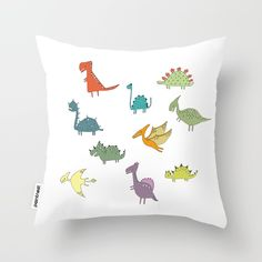 100% HAND DRAWN! Choosing the perfect design is not simple? Get now this Cute Dinosaurs Pattern Nursery High Quality Throw Pillow and dress your home!