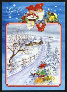 Julkort av Ingrid Elf