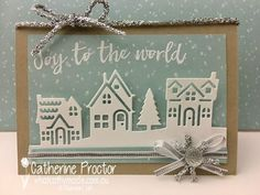 """""""Joy to the World"""" Christmas Card - What Cathy Made"""