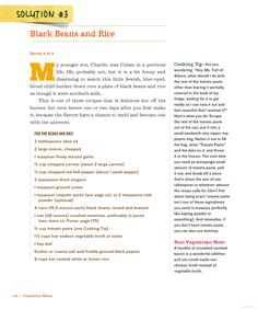 The Mom 100 Cookbook: Black beans and rice
