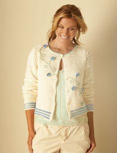 Crochet Flower Cardigan -  Tutorial •★•Teresa Restegui http://www.pinterest.com/teretegui/•★•