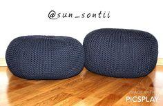 Вязаные пуфы из трикотажной пряжи Hats, Hat