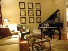 Baby Grand Piano Living Rooms Room Furniture Layout Decor