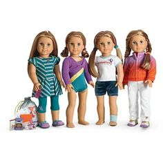 I LOVE to collect, play, and make outfits for my American Girl dolls, I am but I have ALWAYS loved dolls and ALWAYS will:) And I cant wait to get this McKenna set soon! Ag Dolls, Girl Dolls, Barbie Doll, American Girl Mckenna, American Girls, Poupées Our Generation, Girl Online, Mom And Dad, My Girl
