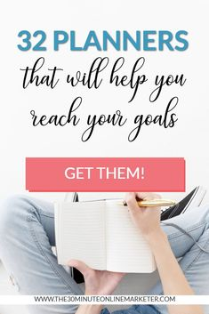 Feel like you're always running around like a headless chicken and never managing to achieve your goals? Check out this list of 32 planners for all purposes that will help you become more productive. Mom Planner, Family Planner, Passion Planner, Free Planner, Best Planners For Moms, Day Planners, Mom Agenda, To Do List Pad, Perfect Planner