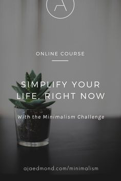 Simplify your life, right now. Take the minimalism challenge at minimalism.co