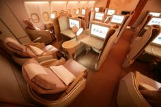 You may think first class airfare is out of your reach but there are ways to get the good life on a flight if you are smart about it. Best First Class Airline, First Class Flights, Private Jet Interior, Flying First Class, Aircraft Interiors, Cheap Flight Tickets, Business Class, Luxury Travel, Lifehacks
