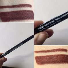 *NYX Faux Black eyeliner in Burnt Sienna - This is my new, favorite, go to eye liner! I have one at work and at home. For someone who has greenish blue eyes, this is pretty much perfect :) It's not too orange, but has a tint of it, and is nice and dark, and lasts all day!