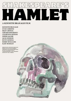 "antoniostella:  Poster for ""Hamlet"" - 1996 by Kenneth Branagh."