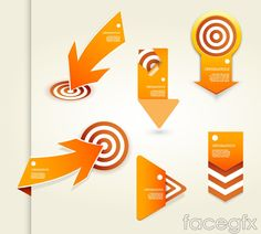 Creative paper-cutting target and arrow vector