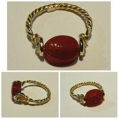 Carnelian intaglio ring scarab! Gold 18 kt handmade - Dogale Jewellery Venezia Italia