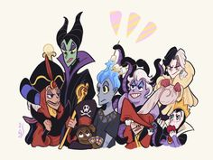 by pamnantarat on DeviantArt Dark Disney Art, Disney Fan Art, Disney Love, Disney Villain Costumes, Disney Villains, Disney Characters, Arte Disney, Disney Pixar, Disney Crossovers