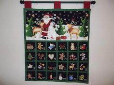 Christmas Advent Calendar - Santa and Friends by craftncathy on Etsy https://www.etsy.com/listing/258629713/christmas-advent-calendar-santa-and