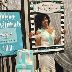 Tiffany & Co Bridal Shower Photo Booth Frame | DIY Bridal Shower Ideas | Bride & Co