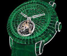 Jacob & Co's Caviar Emerald Tourbillon Timepiece is $2.45 Million #watches trendhunter.com