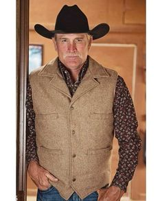 "STS Ranchwear Men's Ace Tan Wool Concealed Carry Vest ""gifts for cowboys"" ""gifts for men"" drysdales.com western menswear for cowboys warm comfortable outerwear fall winter cold weather outdoors snow rain sleet wind rancher ranchwear rugged coat #concealedcarry #PackingHeat self-defense personal security Women's Second Amendment, Pro-Gun Rights, 2nd Amendment American freedom right to bear arms"