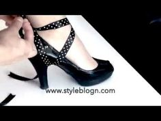 Discover recipes, home ideas, style inspiration and other ideas to try. Ankle Shoes, Tie Shoes, Sock Shoes, Diy Lace Up Heels, Shoe Makeover, Shoe Refashion, Bow Flip Flops, Creative Shoes, Pumps