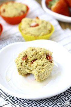 Strawberry Cornbread Muffins // thehealthymaven.com #vegan #gluten-free
